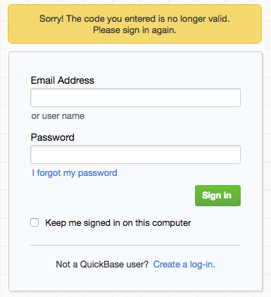 Two-Step Authentication | Quick Base Help